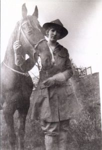 My great-grandmother, Janet Maclay (Cannon) with her horse, Danny Boy