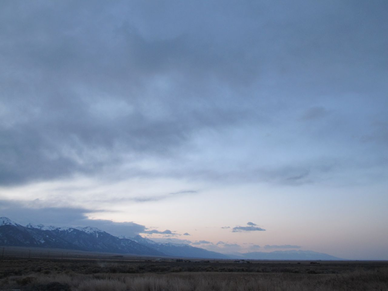 The San Luis Valley and Sangre de Cristo Range at dawn from Joyful Journey