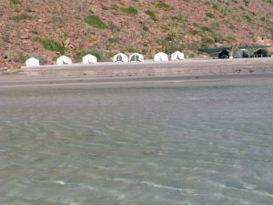 "Baja Expeditions' comfortable ""eco-camp"" on Espiritu Santo."