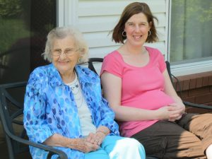 My niece, Carolyn Myrick and her grandmother, Miss Alice Cabe (Richard's mom).