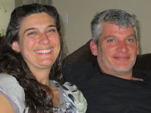 Molly Cabe and her partner, Mark Allen