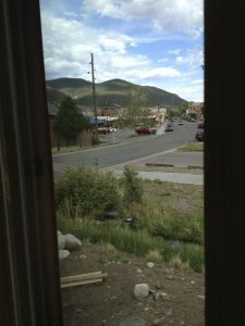 Downtown Salida and the Arkansas Hills seen from the future deck off my bedroom.