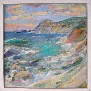 Untitled Carmel (?) seascape, Jennie Vennerstrom Cannon (one of my favorites)