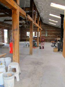 Richard's big studio, almost empty.
