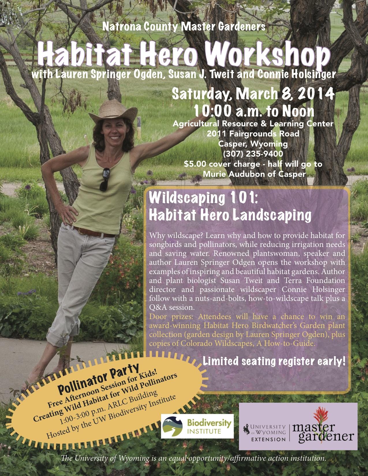 Casper, Wyoming, workshop with Lauren Springer Ogden (and me!)