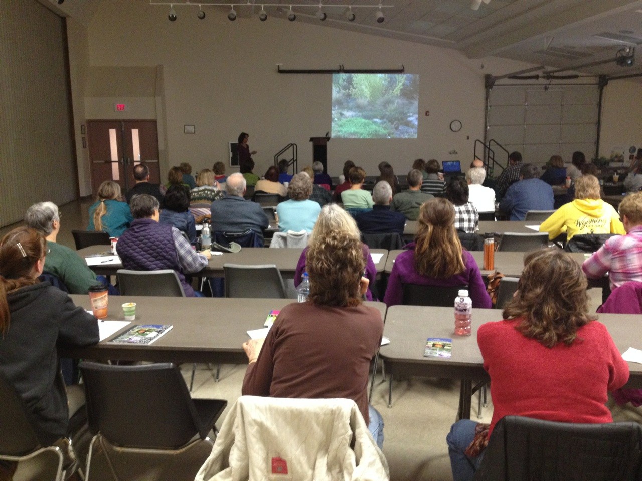 Lauren speaking at the Wildscape 101 workshop in Casper