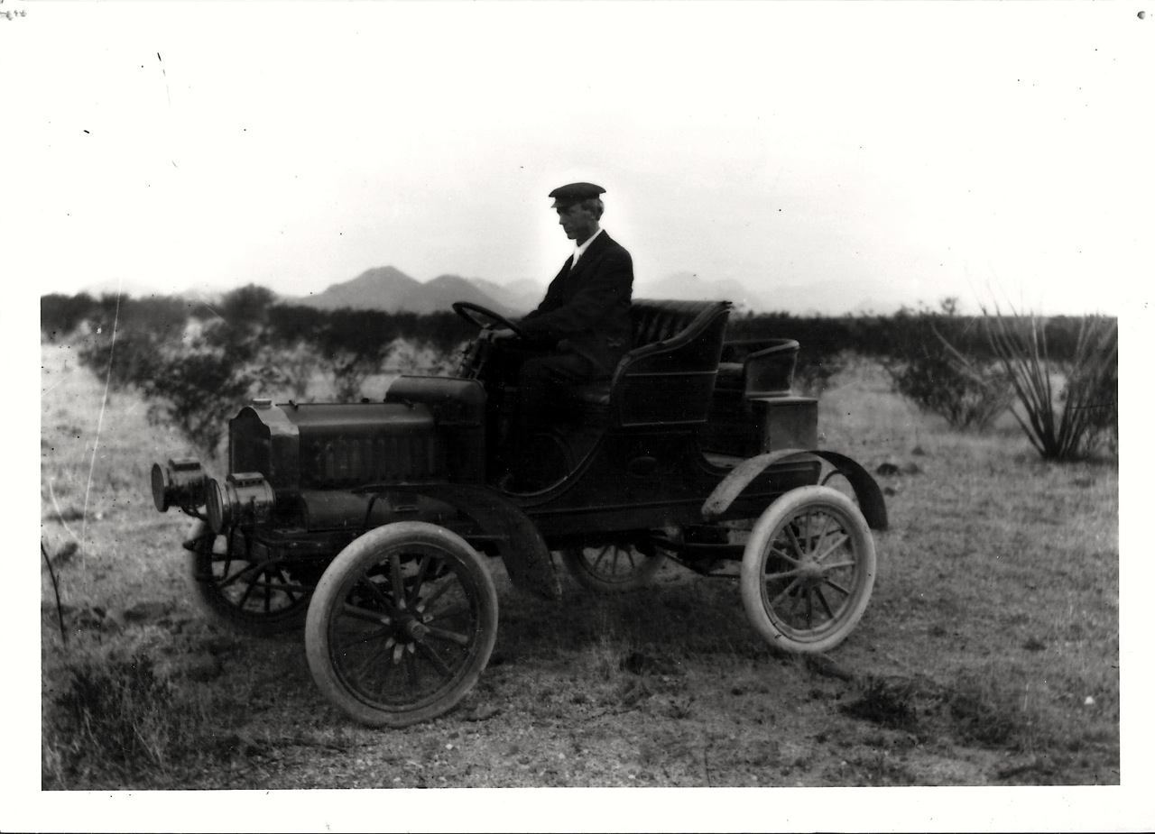 Dr. William Austin Cannon, my maternal great-grandfather, out researching the Sonoran Desert near Tucscon, Arizona, in the early 1900s. Photo: Arizona Historical Society Library