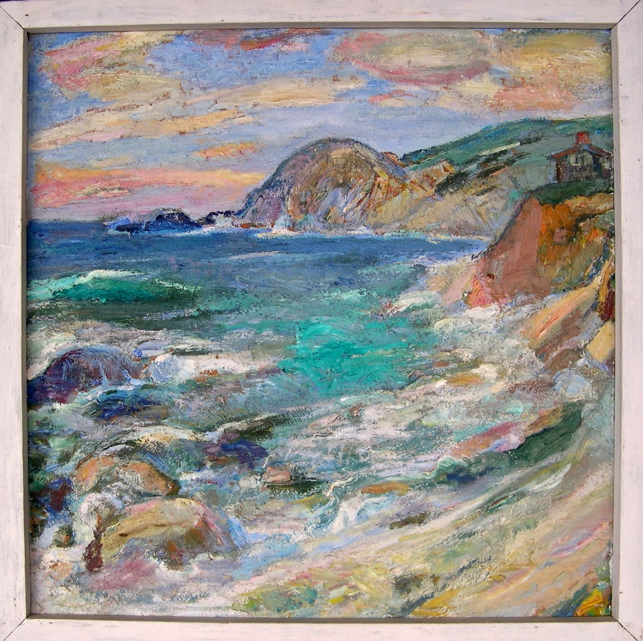 A painting of the Big Sur Coast by my great-grandmother, Jennie Vennerstrom Cannon