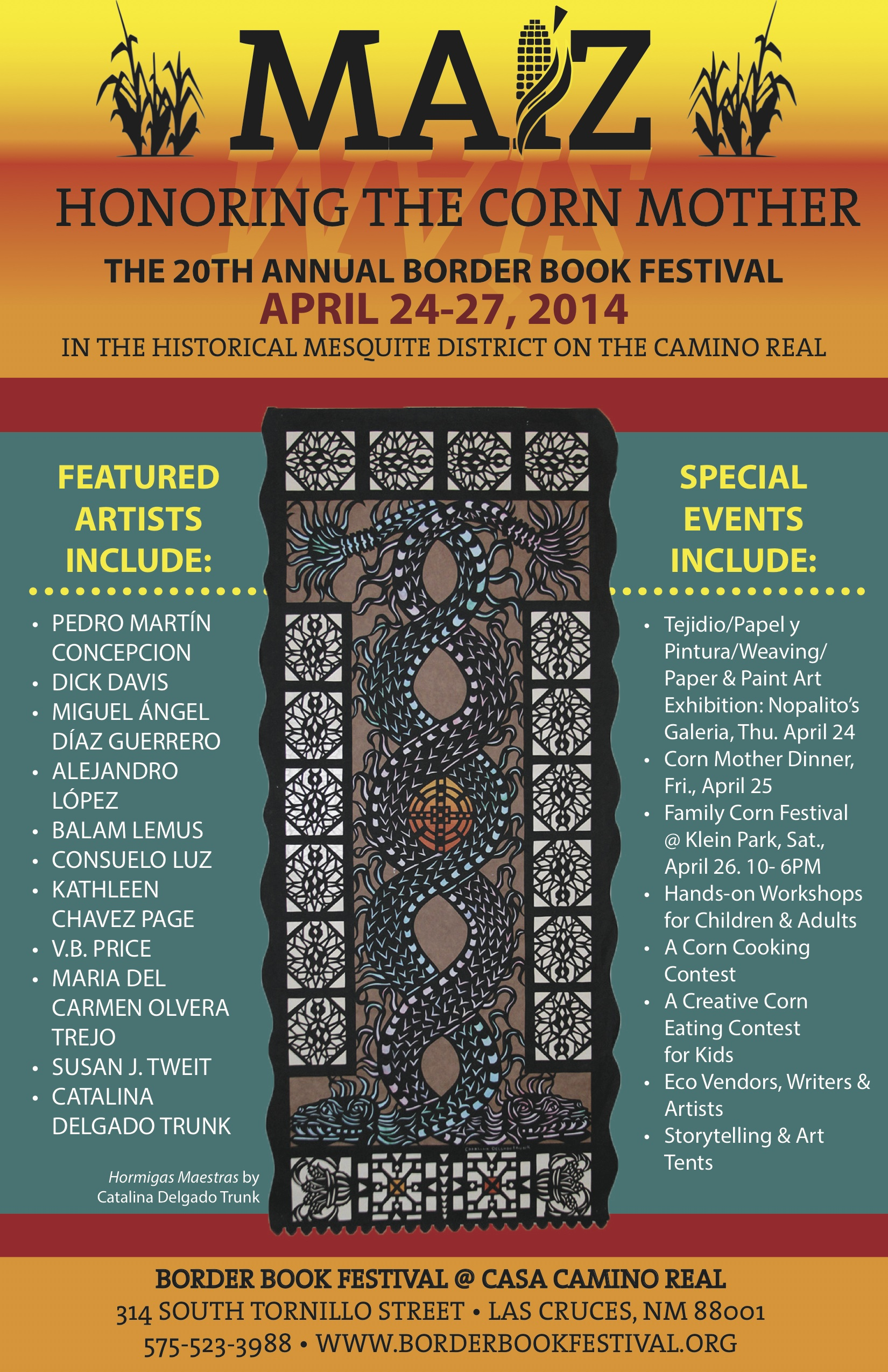 The 20th annual Border Book Festival opens next week in Las Cruces, NM.