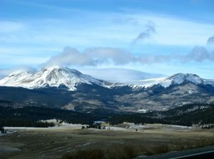 Buffalo Peaks, on the way up Trout Creek Pass, one entrance to South Park