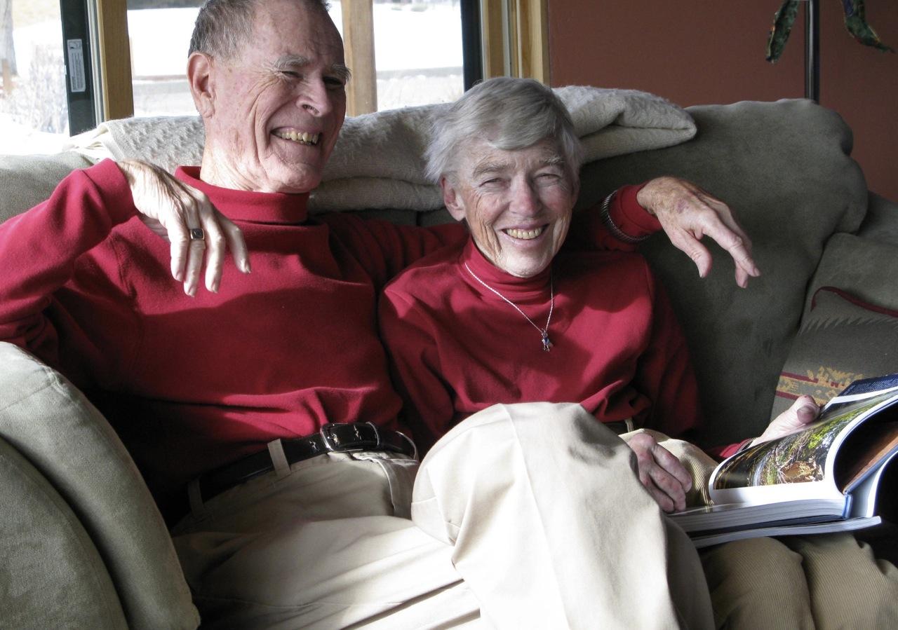 Dad and Mom in Salida, Christmas 2008