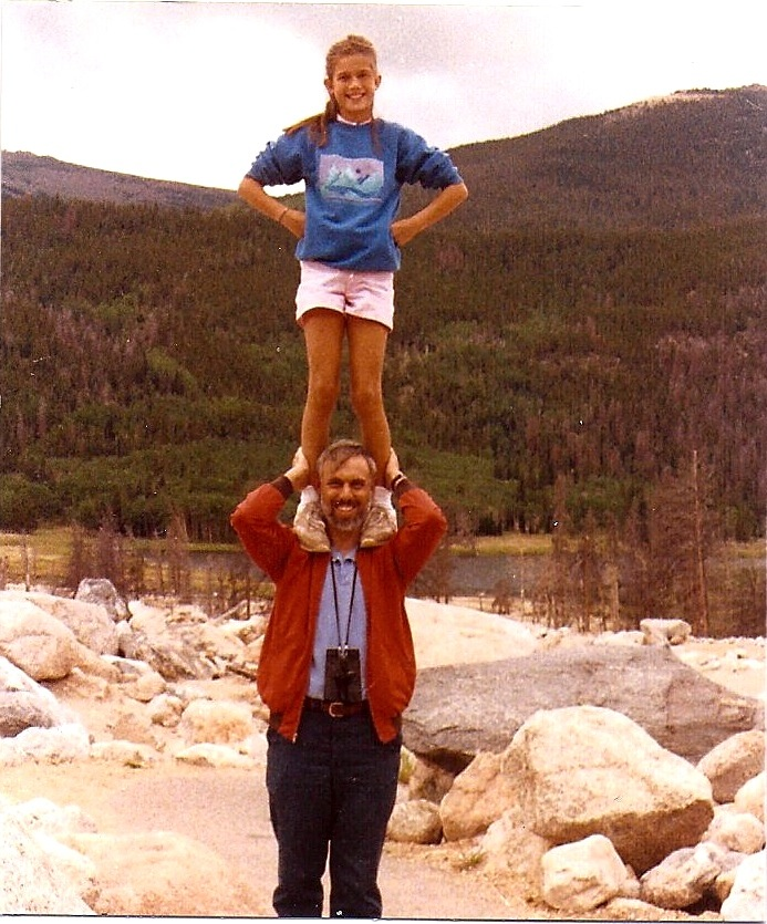 Richard and Molly in Rocky Mountain National Park, about 1988