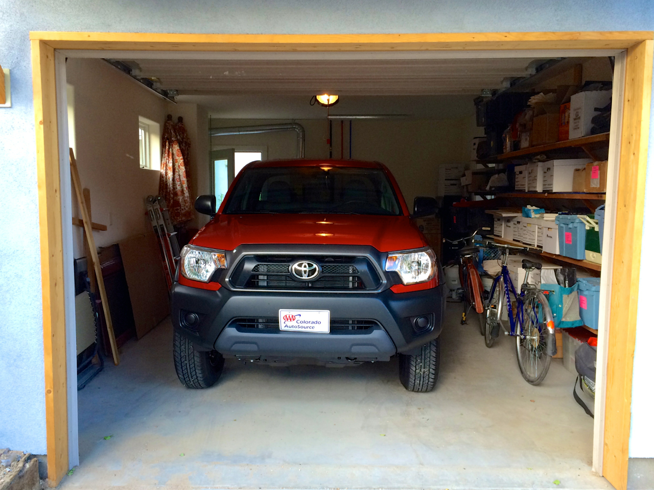 A truck? In my tiny garage?