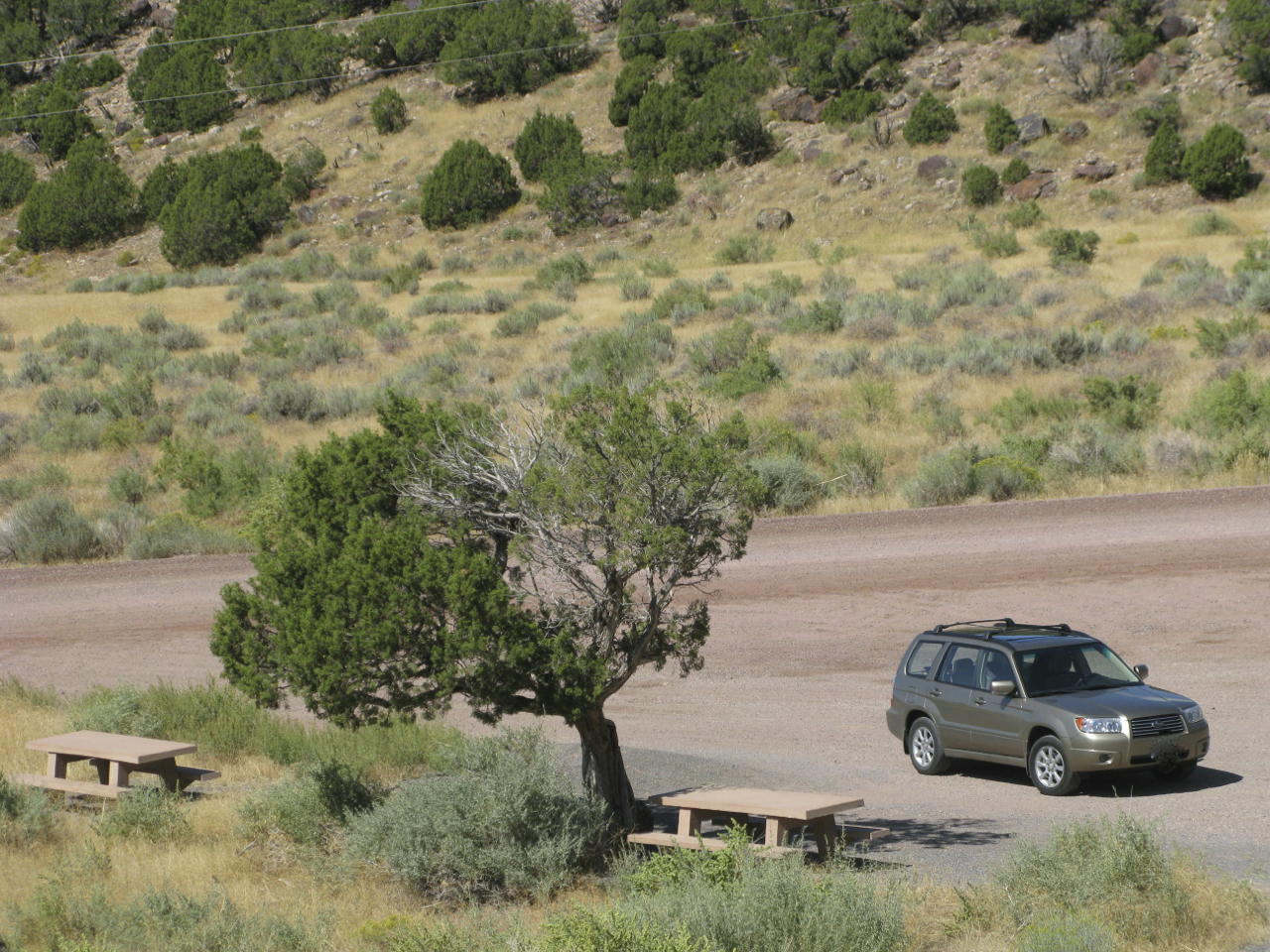 The Forester at the petroglyphs in Irish Canyon, Colorado.