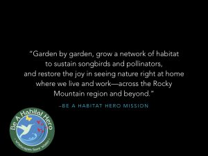 The mission of the Habitat Hero project.