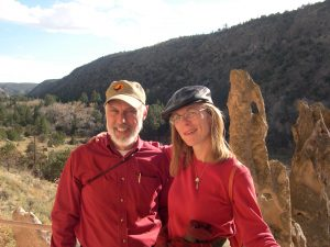 Do those hikers look happy and mellow, or what? (Richard and me at Bandelier Nat. Monument. Photo: Sherrie York)