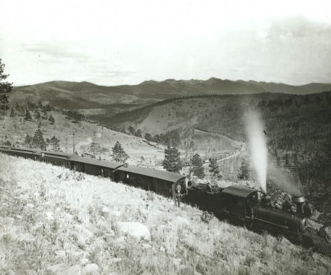 The Denver Rio Grande & Western train heading up Marshall Pass in about 1890 Photo: William Henry Jackson