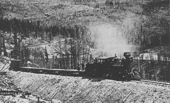 D & RGW work train doing maintenance below Marshall Pass. Photo: Colorado Historical Society