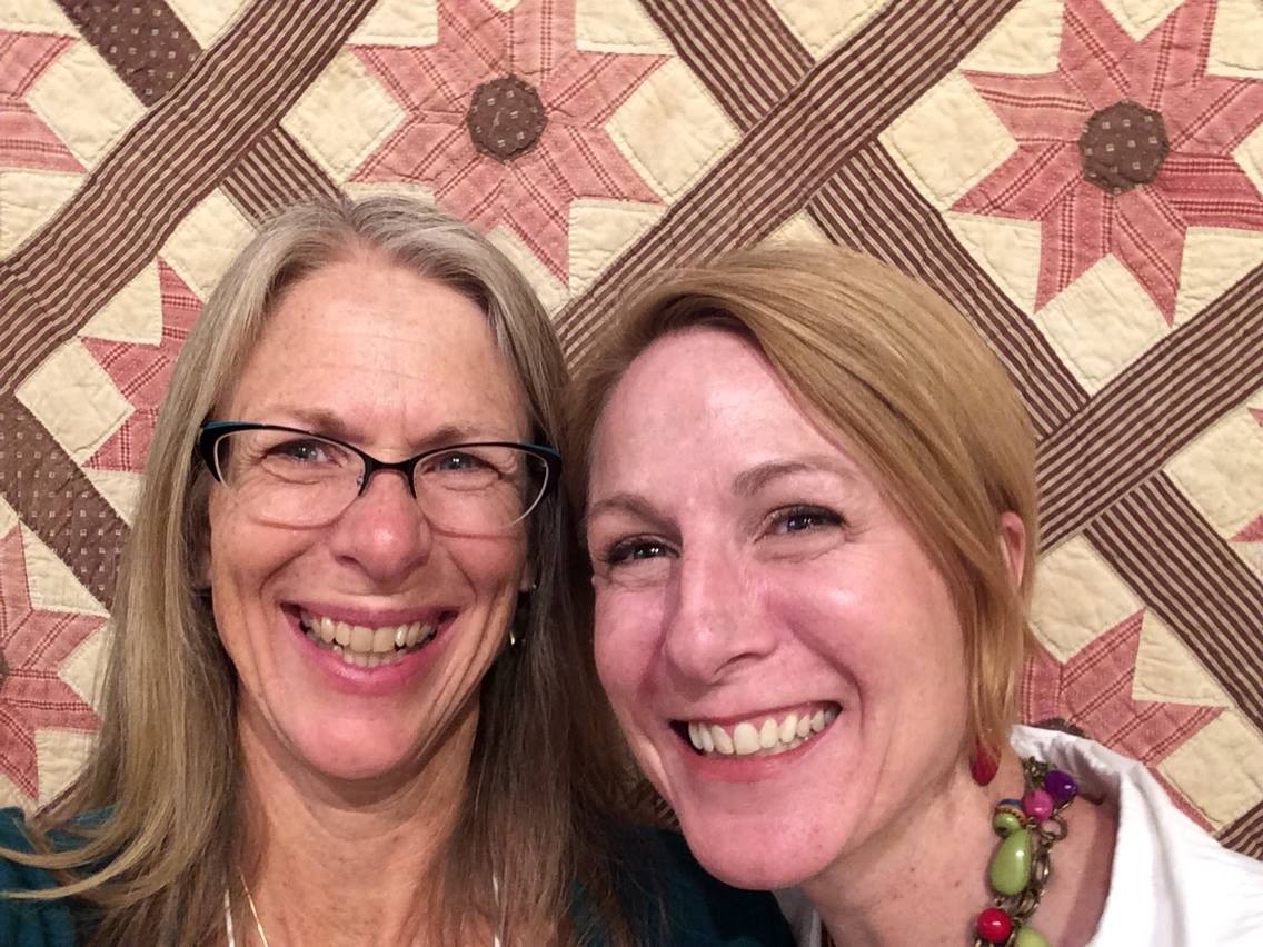 Excitement... (A selfie with Dawn Wink at the Rocky Mountain Quilt Museum.)