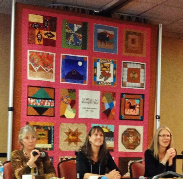 "Page Lambert, Kayann Short and me on the ""Every Writer Needs a Community"" panel. Photo: Stephanie West Allen"