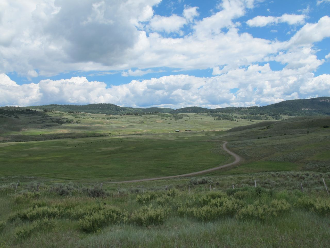 Foothills of the San Juan Mountains along US 50 east of Montrose, Colorado