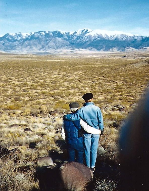 Richard and Susan in the Tularosa Basin of Southern New Mexico, around 1992.