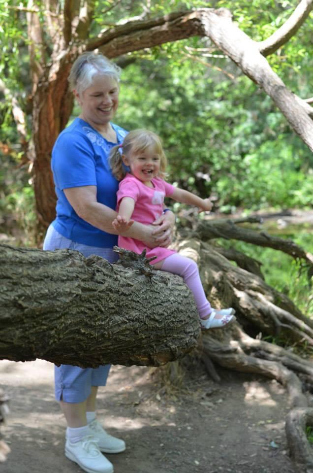 Sandra D. Lynn and granddaughter Skye