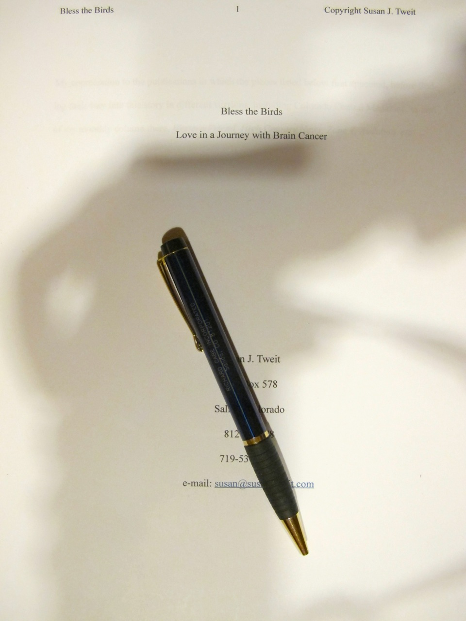 Manuscript and Richard's pen