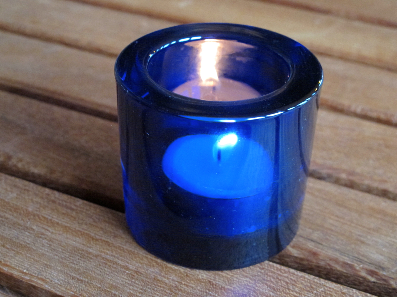 My special cobalt blue solstice candle-holder