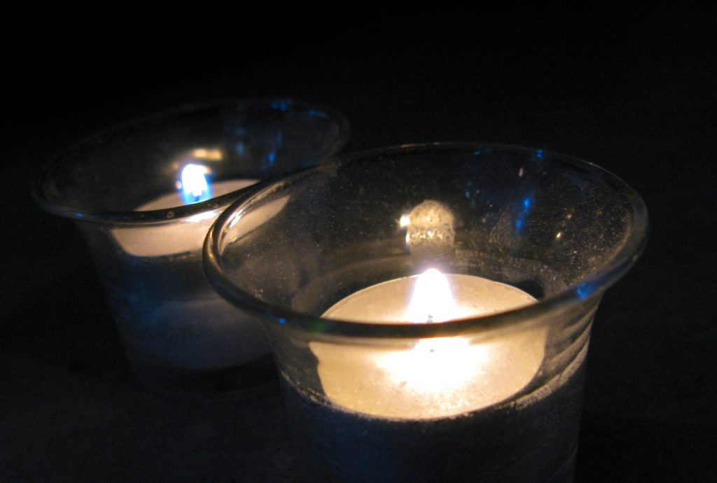 Candles for grief and remembering
